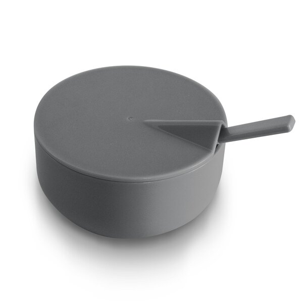 Emmert Slate Melamine Condiment Server with Spoon by Rebrilliant