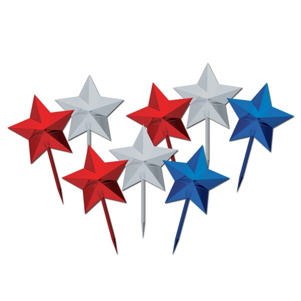 Patriotic Star Picks (Set of 50) by The Beistle Company