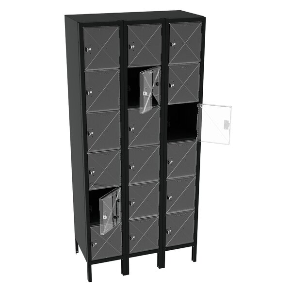 6 Tier 3 Wide Storage Locker by Tennsco Corp.6 Tier 3 Wide Storage Locker by Tennsco Corp.
