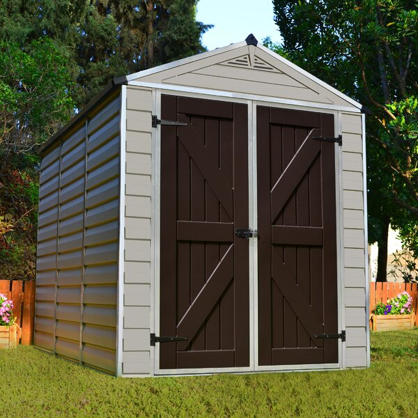 SkyLight 6 ft. 1 in. W x 7 ft. 7 in. D Polycarbonate Storage Shed by Palram