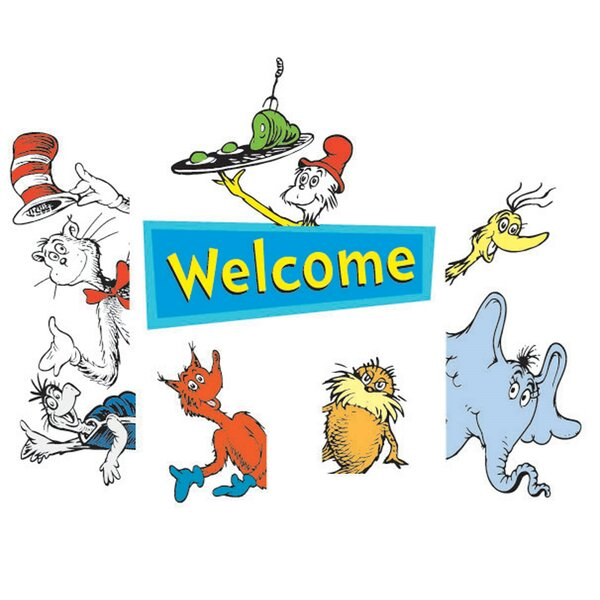 2 Piece Dr Seuss Welcome Go Arounds Paper Disposable Door Border Set [NA]