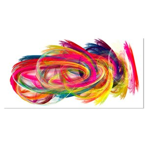 'Colorful Thick Strokes' Graphic Art on Wrapped Canvas by Design Art