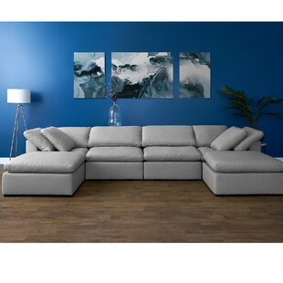 Grantville Reversible Modular Sectional with Ottoman