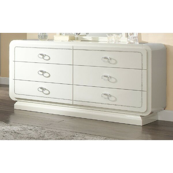 Gilleland 6 Drawer Double Dresser by Everly Quinn