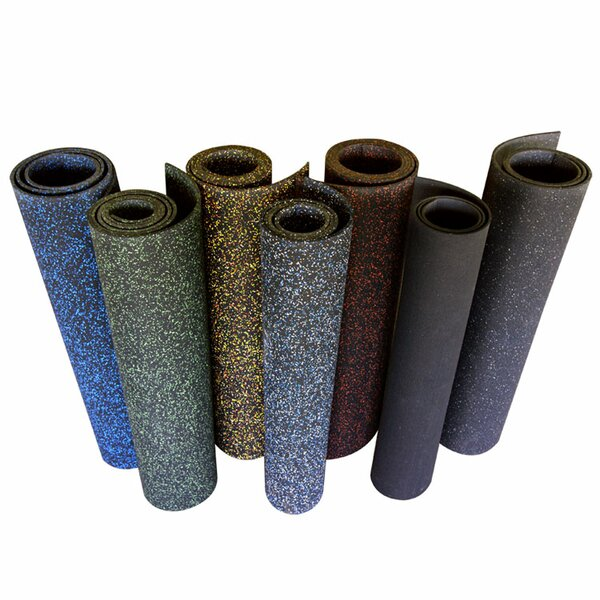 Elephant Bark 150 Recycled Rubber Flooring Roll by Rubber-Cal, Inc.