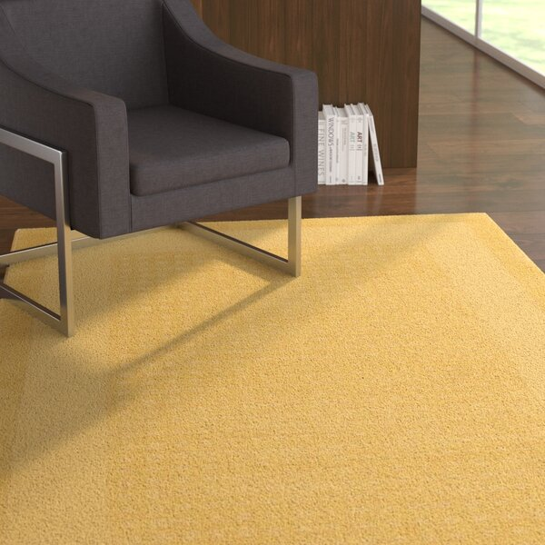 Aspasia Yellow Area Rug by Ebern Designs