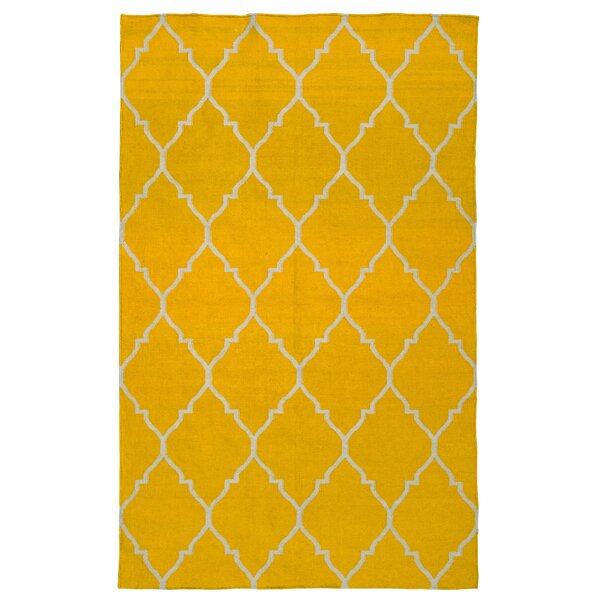 Fieldon Hand-Woven Gold Area Rug by Charlton Home