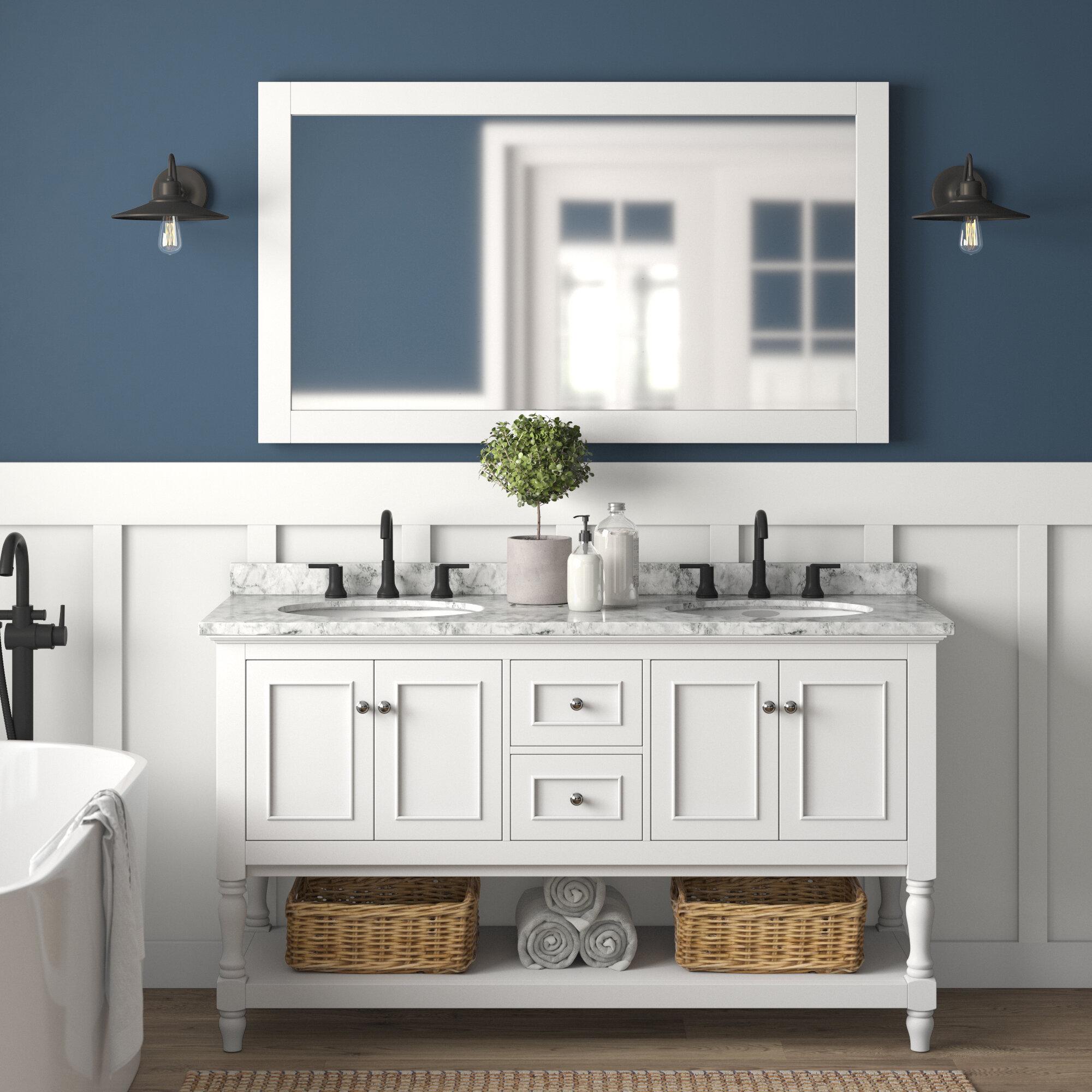 Caroll 60 Double Bathroom Vanity Set