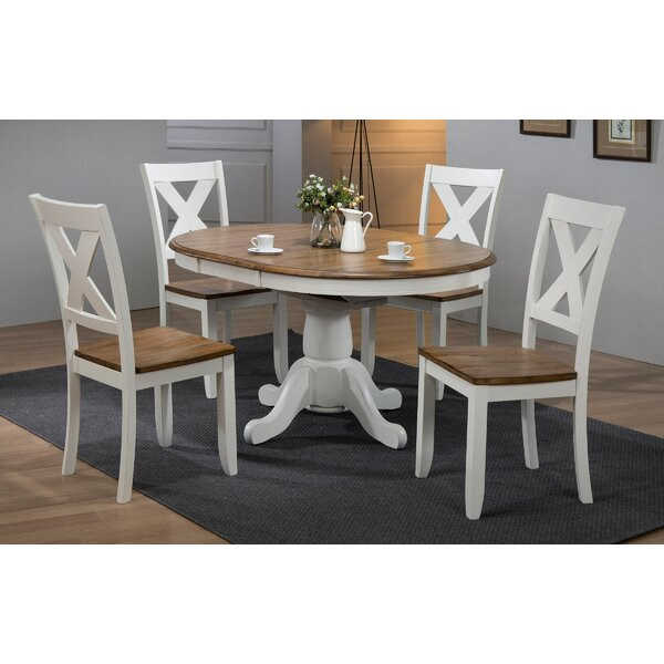 5 Piece Extendable Solid Wood Dining Set by Winners Only, Inc.