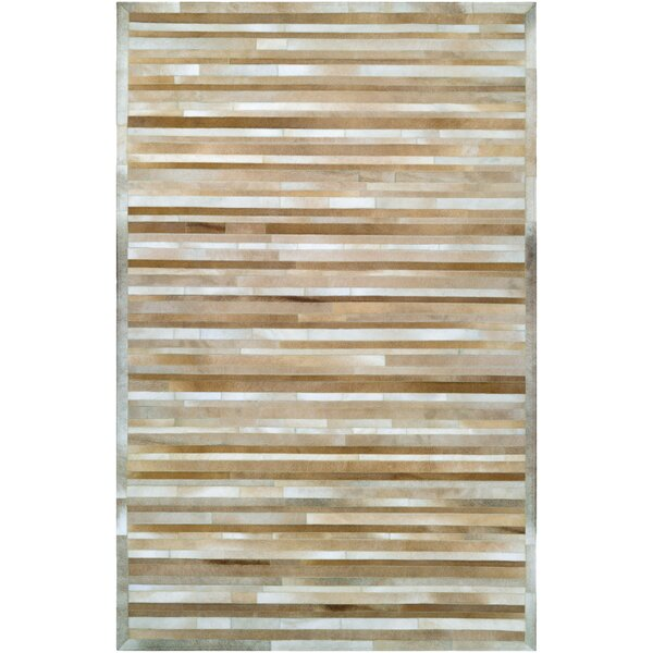 Covina Hand-Woven Beige Area Rug by Trent Austin Design