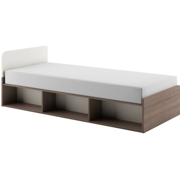 Madelyn Panel Bed with Mattress and Drawers and Bookcase by Brayden Studio