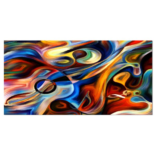 Abstract Music and Rhythm Graphic Art on Wrapped Canvas by Design Art