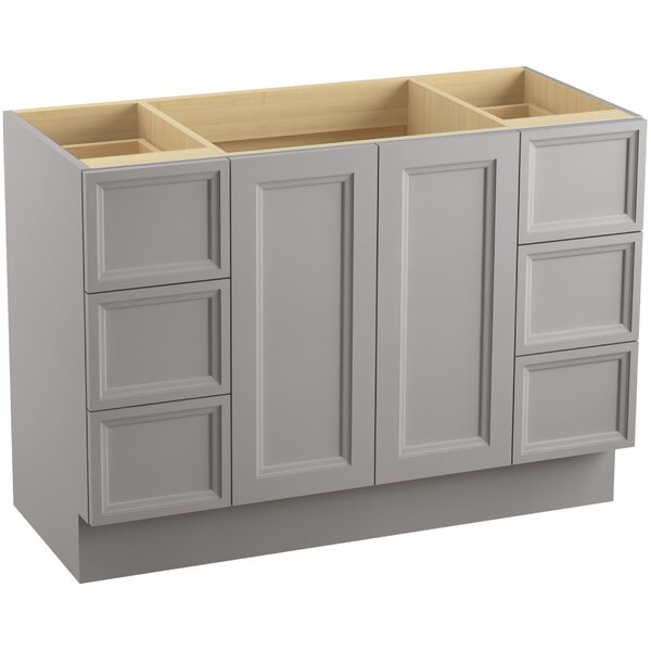 Damask Plains 48 Vanity with Toe Kick, 2 Doors and 6 Drawers, Split Top Drawers by Kohler