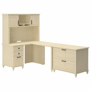 Volcano Dusk 3 Piece L-Shape Desk Office Suite by Kathy Ireland Office Bush New