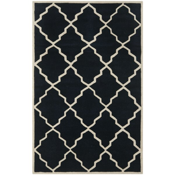 Wilkin Dark Blue Moroccan Rug by Wrought Studio