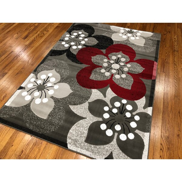 Everill Dark Gray Area Rug by Winston Porter
