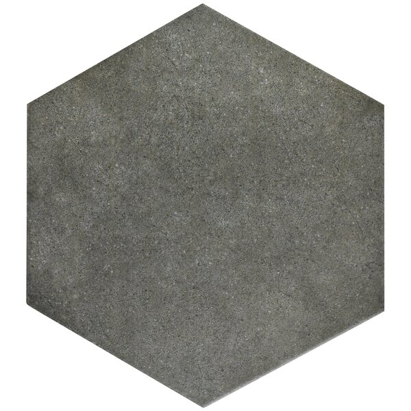 Annata 8.63 x 9.88 Porcelain Field Tile in Charcoal Gray by EliteTile