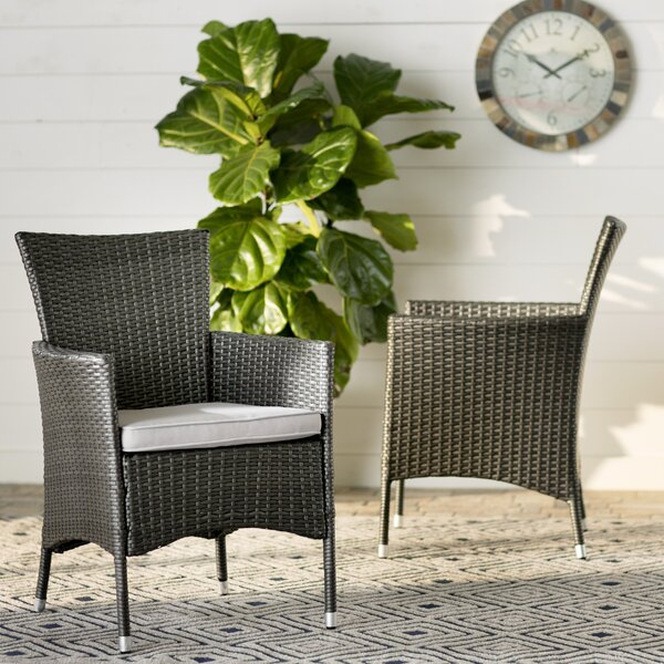 Carmack Patio Dining Chair with Cushion (Set of 2) by Brayden Studio