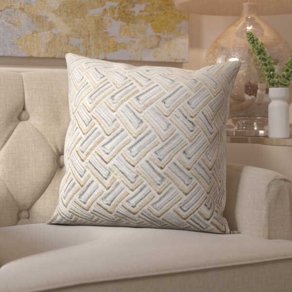 Laine Metallic Throw Pillow by Mercer41