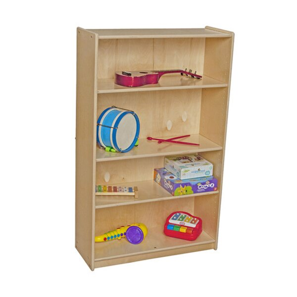 Clarendon 4 Compartment Bookshelf by Symple Stuff