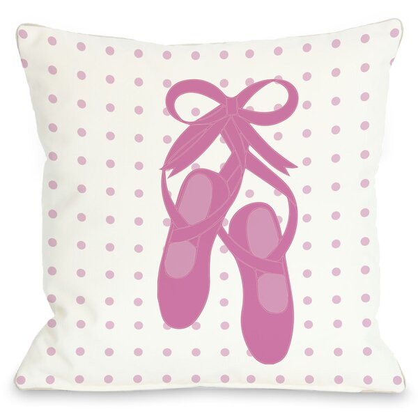 Bella Ballet Slippers Throw Pillow by One Bella Casa