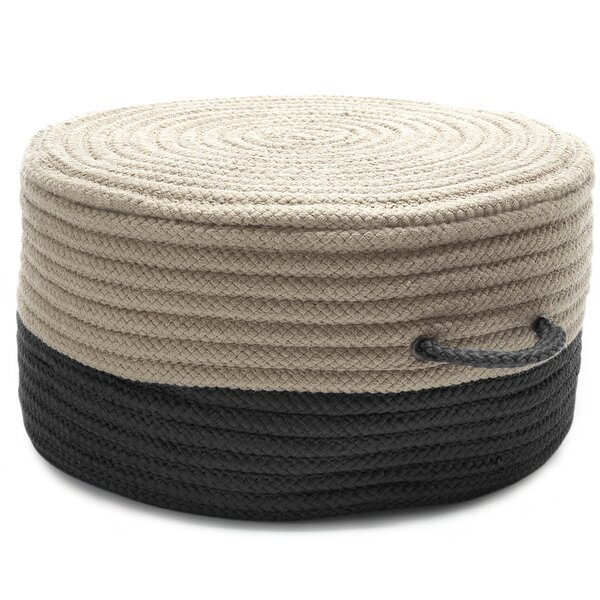 Quan Two-Tone Pouf Ottoman by Highland Dunes