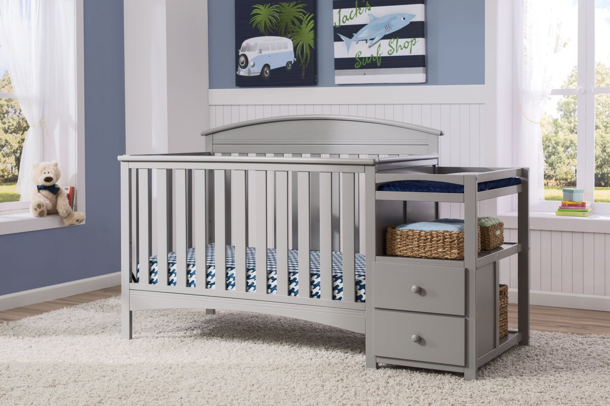 Elegant Abby 4 In 1 Convertible Crib And Changer By Delta