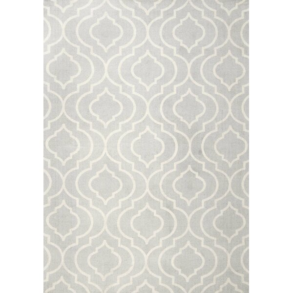 Justine Light Gray Area Rug by Beachcrest Home