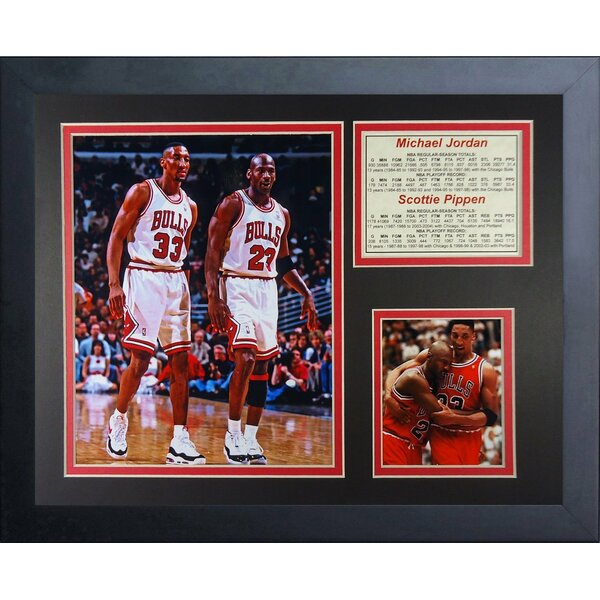 Michael Jordan and Scottie Pippen Framed Memorabilia by Legends Never Die