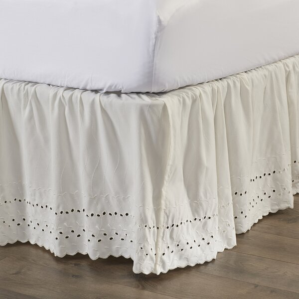 Nayara Eyelet Extra Long 145 Thread Count Bed Skirt by August Grove