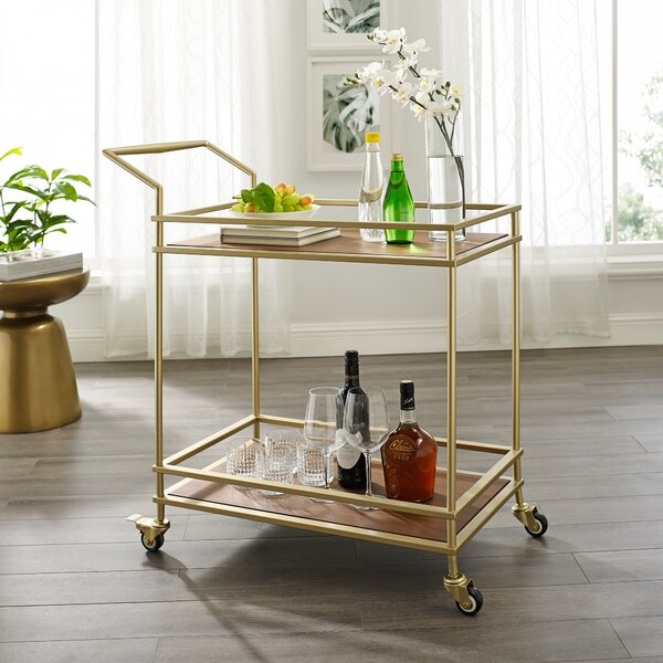 Tilly Serving Bar Cart By Nicole Miller Modern