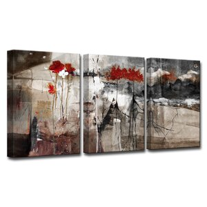 'Abstract' 3 Piece Print of Painting on Canvas Set by Ready2hangart