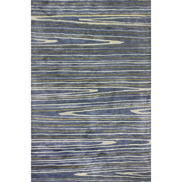 South Ferry Hand-Tufted Azure Area Rug by Latitude Run