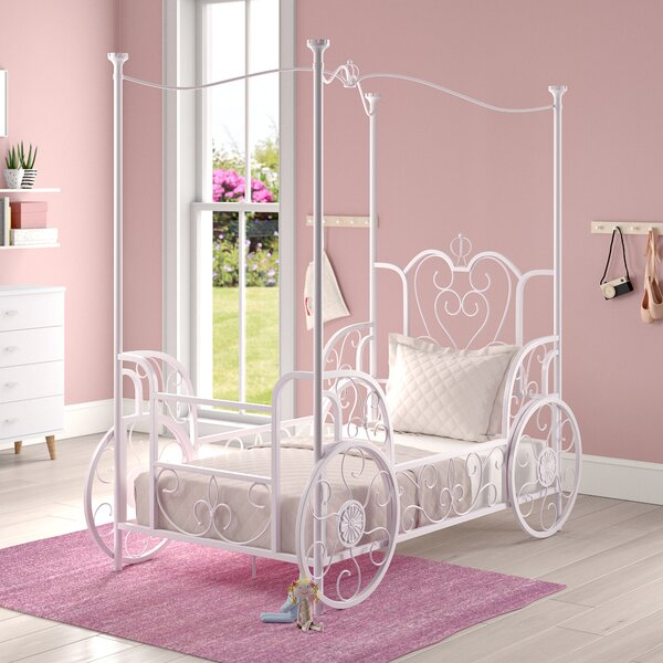 Braylee Vintage Carriage Twin Canopy Bed by Harriet Bee
