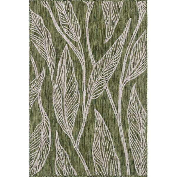 Kyser Green/Gray Indoor/Outdoor Area Rug by Bungalow Rose