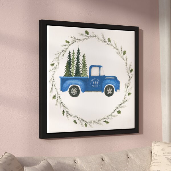 Old Blue Truck Framed Painting Print On Wrapped Canvas By Laurel Foundry Modern Farmhouse.