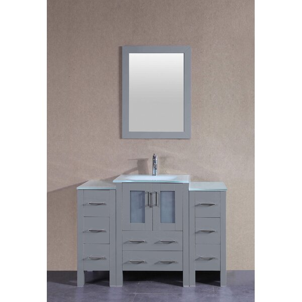 Dunham 48 Single Bathroom Vanity Set with Mirror by Bosconi