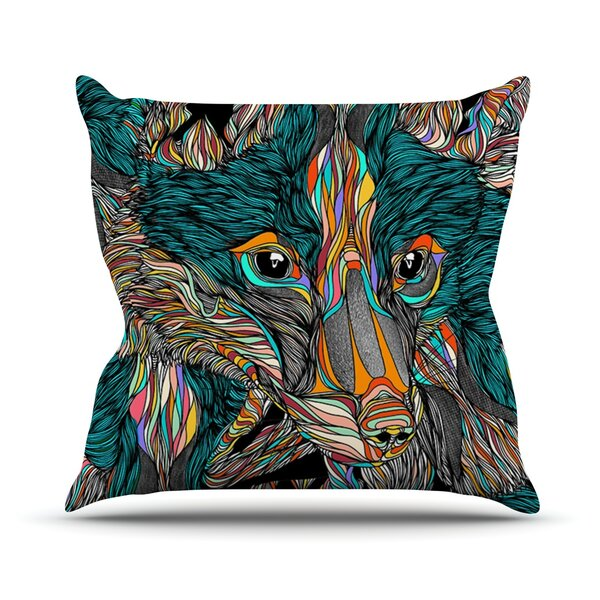 Fox Outdoor Throw Pillow by East Urban Home