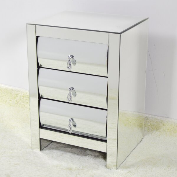Malwae 3 Drawer Nightstand by House of Hampton
