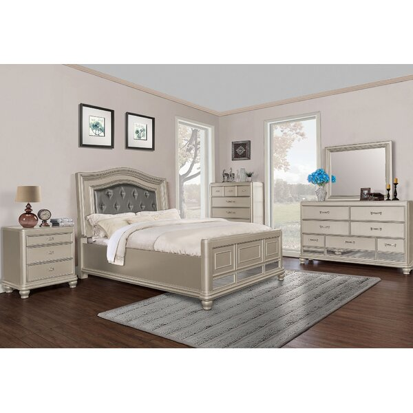 Panel 5 Piece Bedroom Set by BestMasterFurniture