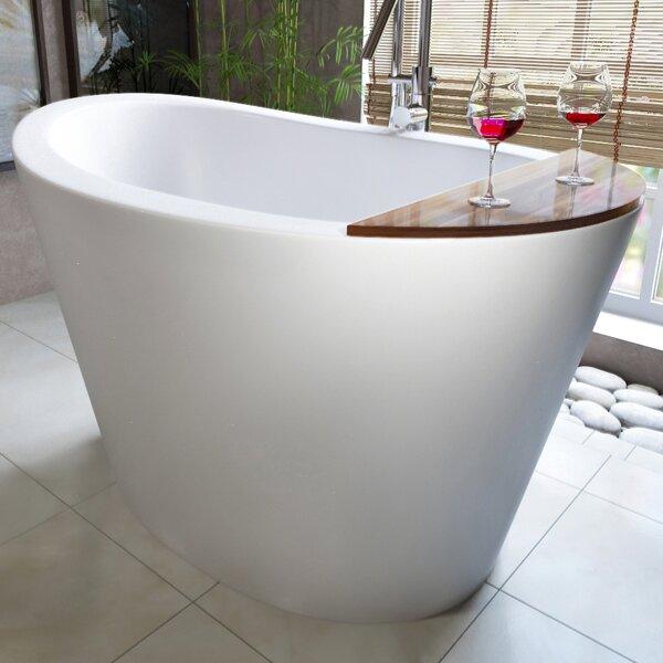 True Ofuro 51.5 x 36.25 Freestanding Soaking Bathtub by Aquatica