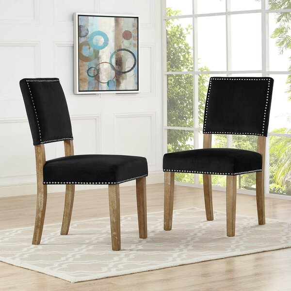 #2 Trever Upholstered Dining Chair (Set Of 2) By Gracie Oaks Cheap
