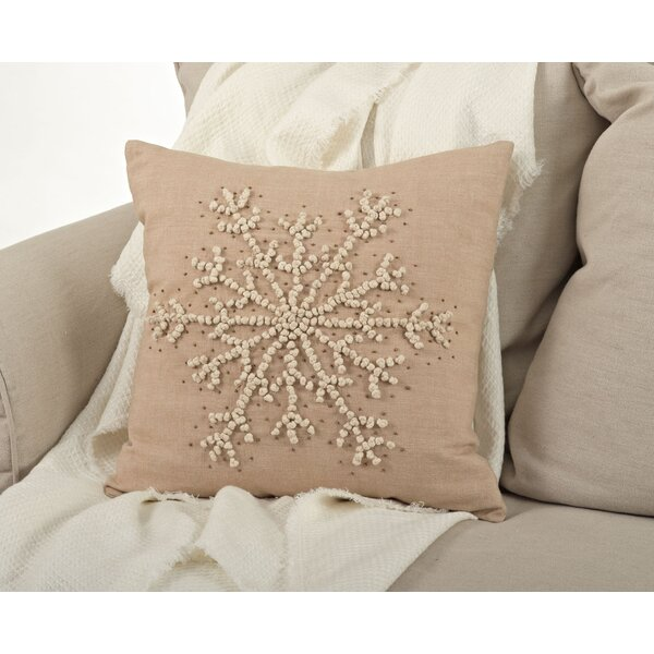 Knotted Snowflake Throw Pillow by Saro