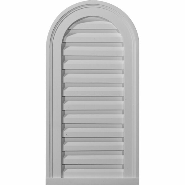 Cathedral 24H x 22W Gable Vent Louver by Ekena Millwork