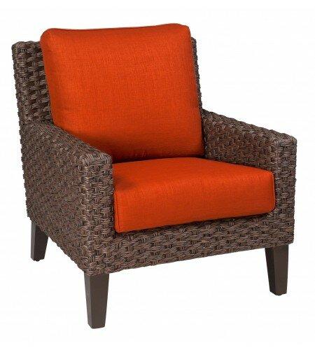Mona Stationary Patio Chair with Cushions by Woodard Woodard