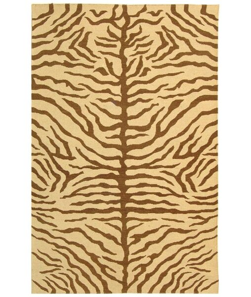 Ile des Pins Ivory / Brown Novelty Rug by Bloomsbury Market