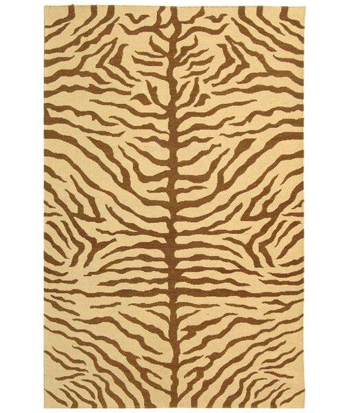 Ile des Pins Ivory / Brown Novelty Rug by Bloomsbury Market