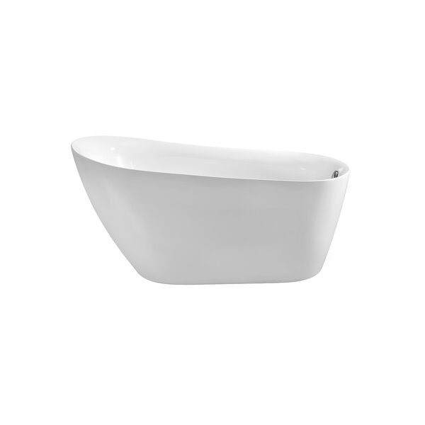 67 x 28 Freestanding Soaking Bathtub by Wildon Home ®