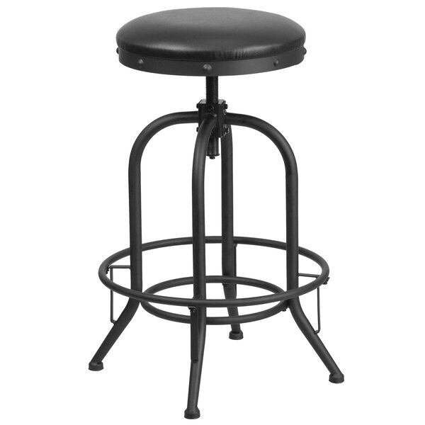 Karyl Adjustable Height Swivel Bar Stool by Williston Forge