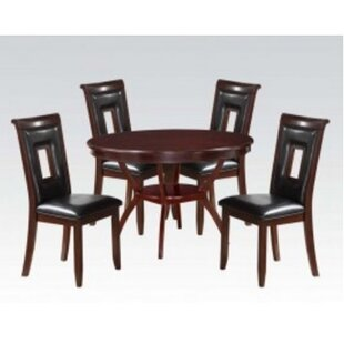 Roger 5 Piece Solid Wood Dining Set By A&J Homes Studio
